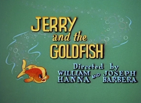 Screenshots from the 1951 MGM cartoon Jerry and the Goldfish