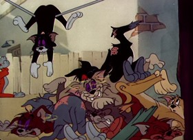 Screenshots from the 1951 MGM cartoon Jerry