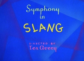 Screenshots from the 1951 MGM cartoon Symphony in Slang