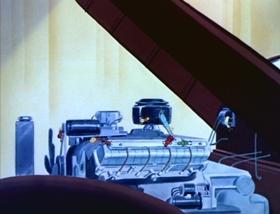 Screenshots from the 1951 MGM cartoon Car of Tomorrow