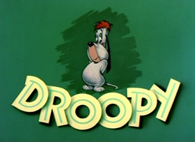 Screenshots from the 1951 MGM cartoon Droopy