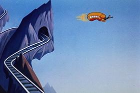 Screenshots from the 1951 Walter Lantz cartoon Puny Express