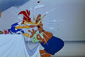 Screenshots from the 1951 Walter Lantz cartoon The Woody Woodpecker Polka