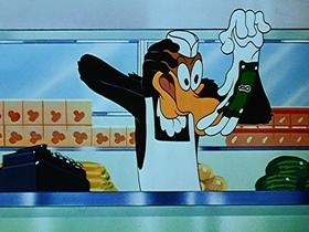 Screenshots from the 1951 Walter Lantz cartoon Destination Meatball