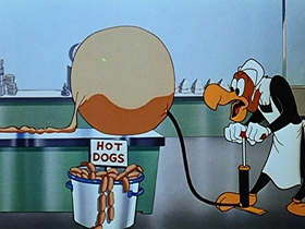 Screenshots from the 1951 Walter Lantz cartoon Destination Meatball