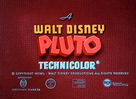 Screenshots from the 1951 Disney cartoon Plutopia