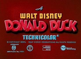Screenshots from the 1951 Disney cartoon Test Pilot Donald