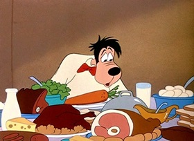 Screenshots from the 1951 Disney cartoon Tomorrow We Diet