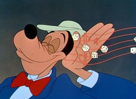 Screenshots from the 1951 Disney cartoon Get Rich Quick