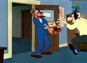 Screenshots from the 1951 Disney cartoon Fathers Are People