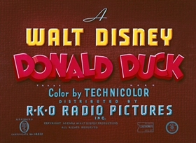 Screenshots from the 1951 Disney cartoon Out of Scale