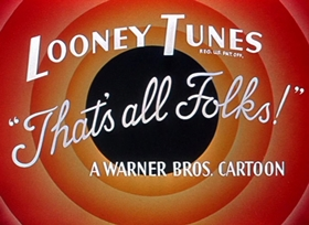 Screenshots from the 1951 Warner Brothers cartoon Putty Tat Trouble