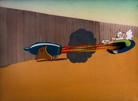 Screenshots from the 1951 Warner Brothers cartoon Corn Plastered
