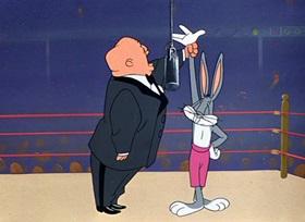 Screenshots from the 1951 Warner Brothers cartoon Bunny Hugged