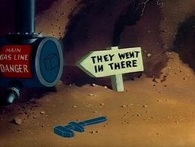 Screenshots from the 1951 Warner Bros. cartoon A Bone for a Bone