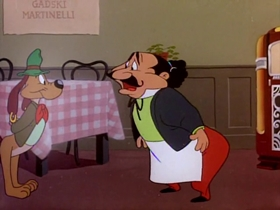 Screenshots from the 1951 Warner Brothers cartoon A Hound for Trouble