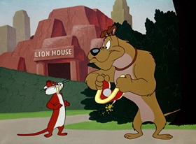 Screenshots from the 1951 Warner Brothers cartoon Chow Hound