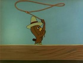 Screenshots from the 1951 Warner Brothers cartoon Leghorn Swoggled