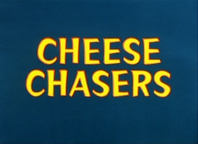 Screenshots from the 1951 Warner Brothers cartoon Cheese Chasers