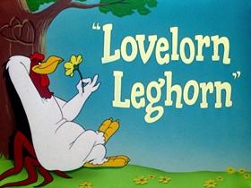Screenshots from the 1951 Warner Brothers cartoon Lovelorn Leghorn