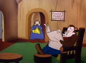 Screenshots from the 1951 Warner Brothers cartoon Sleepy Time Possum