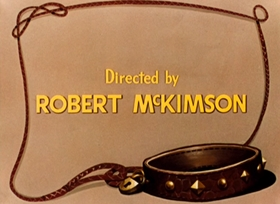 Screenshots from the 1951 Warner Brothers cartoon Dog Collared