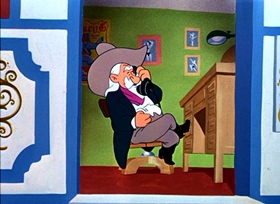 Screenshots from the 1951 Warner Bros. cartoon Big Top Bunny