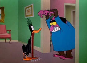 Screenshots from the 1951 Warner Bros. cartoon The Prize Pest