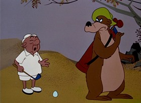 Screenshots from the 1951 UPA cartoon Grizzly Golfer