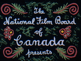 Screenshots from the 1952 National Film Board of Canada cartoon Neighbours