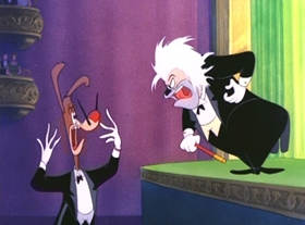 Screenshots from the 1952 MGM cartoon Magical Maestro