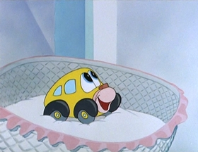 Screenshots from the 1952 MGM cartoon One Cab