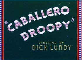 Screenshots from the 1952 MGM cartoon Caballero Droopy