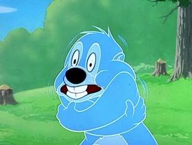 Screenshots from the 1952 MGM cartoon Busybody Bear