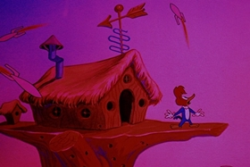 Screenshots from the 1952 Walter Lantz cartoon Termites From Mars