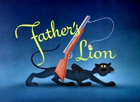 Screenshots from the 1952 Disney cartoon Father