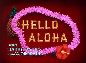 Screenshots from the 1952 Disney cartoon Hello Aloha