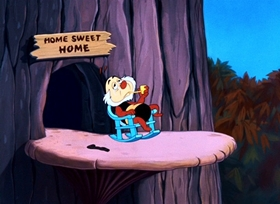 Screenshots from the 1952 Disney cartoon Let