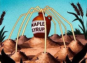 Screenshots from the 1952 Disney cartoon Uncle Donald