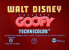 Screenshots from the 1952 Disney cartoon Two Weeks Vacation