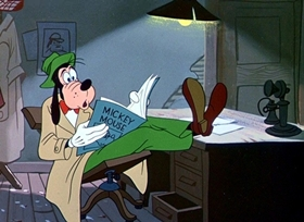 Screenshots from the 1952 Disney cartoon How to Be a Detective