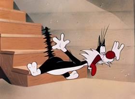 Screenshots from the 1952 Warner Bros. cartoon Who