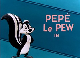 Screenshots from the 1952 Warner Brothers cartoon Little Beau Pepe