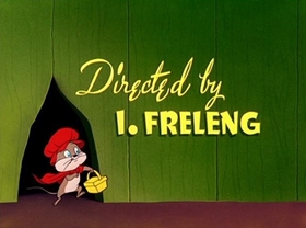 Screenshots from the 1952 Warner Brothers cartoon Little Red Rodent Hood