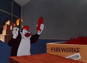Screenshots from the 1952 Warner Brothers cartoon Hoppy Go Lucky
