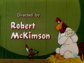 Screenshots from the 1952 Warner Brothers cartoon The Egg-Cited Rooster
