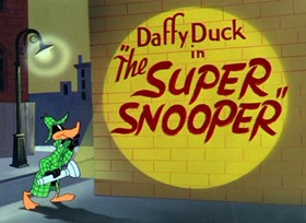 Screenshots from the 1952 Warner Brothers cartoon The Super Snooper