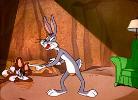 Screenshots from the 1952 Warner Brothers cartoon Rabbit