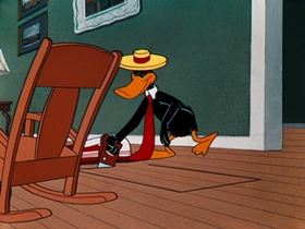 Screenshots from the 1952 Warner Brothers cartoon Fool Coverage