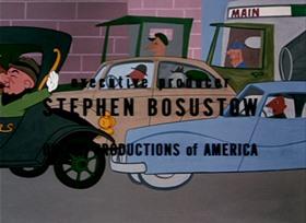 Screenshots from the 1952 UPA cartoon Sloppy Jalopy